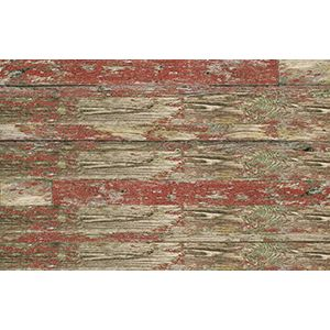 3D Wall Panels, Old Paint Red, 2' x 4'