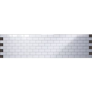 3D Wall Panels, Subway Tile White, 2' x 8'