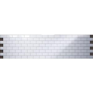3D Wall Panels, Subway Tile White, 2' x 4'