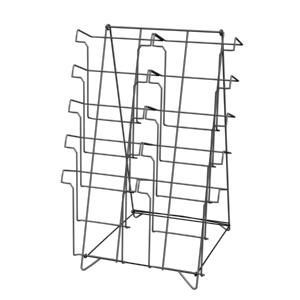 10 Open Shelf Countertop Literature Racks