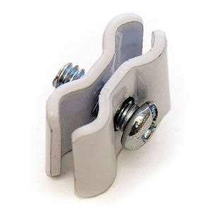 White, Joining Clips, for Gridwall or Slatgrid