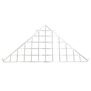 Chrome Triangle Shelf, Gridwall Attachment