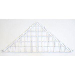 White Triangle Shelf, Gridwall Attachment