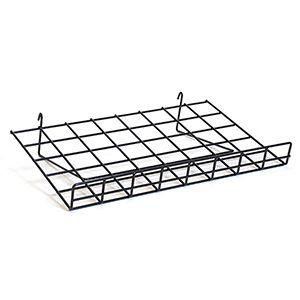 """Black Flat Shelf with Lip, 15"""" x 24"""""""