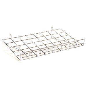 """Chrome Flat Shelf with Lip , 15"""" x 24"""""""
