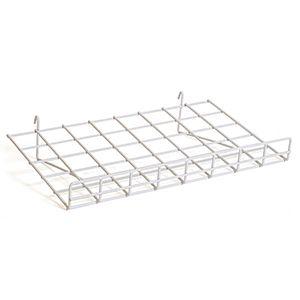 """White Flat Shelf with Lip, 15"""" x 24"""""""