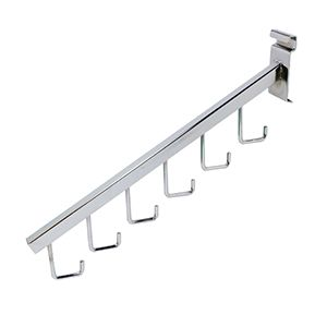 """16"""" Chrome, Gridwall Waterfall with 6 Hooks"""