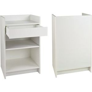 White, Ready To Assemble Cash Register Stand