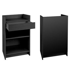 Black, Ready To Assemble Cash Register Stand