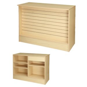 4' Maple, Ready-to-assemble, Wrap counter