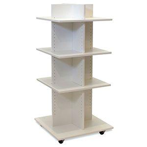 "Shelf Tower, Knock-Down White, 54""x 24"" x 24"""