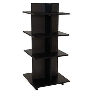 "Shelf Tower, Knock-Down Black, 54""x 24"" x 24"""