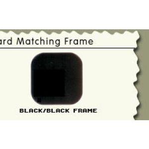 """36"""", Black/Black Frame, Cash Wrap Cabinet"""