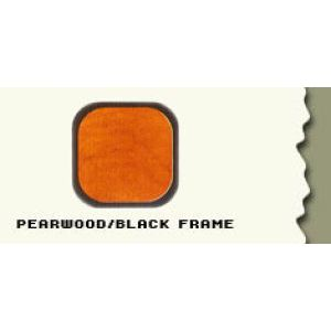 """36"""", Pearwood/Black Frame, Cash Wrap Cabinet"""