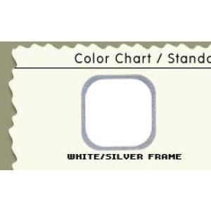 "60"", White/Silver Frame, Cash Wrap Cabinet"