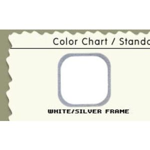 "72"", White/Silver Frame, Cash Wrap Cabinet"