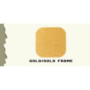 """44.5"""", Brushed Gold/Gold Frame, Full Sized Corner Jewelry Showcase"""