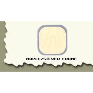 "44.5"", Maple/Silver Frame, Full Sized Corner Jewelry Showcase"