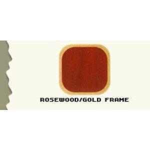 "44.5"", Rosewood/Gold Frame, Full Sized Corner Jewelry Showcase"