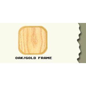 """44.5"""", Oak/Gold Frame, Full Sized Curved Jewelry Showcase"""