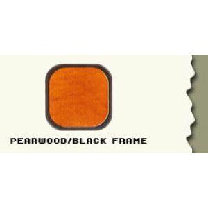 "44.5"", Pearwood/Black Frame, Full Sized Curved Jewelry Showcase"