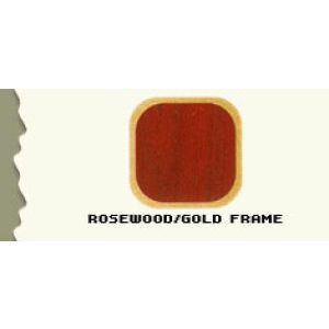 """44.5"""", Rosewood/Gold Frame, Full Sized Curved Jewelry Showcase"""