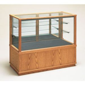 4' Rectangle, Extended Vision Display Case, with Lights