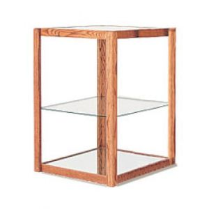 3', E'Tagere Open Shelf Display with Mirror Bottom