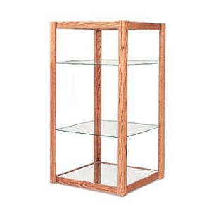4', E'Tagere Open Shelf Display with Mirror Bottom
