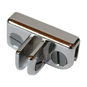 Glass Connector, 3 Way Adjustable