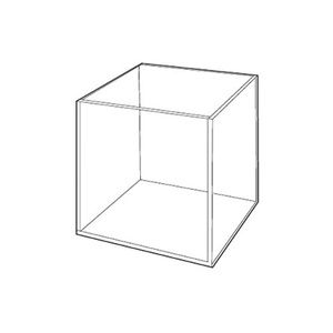 """3/16"""" Acrylic Open Cubes, 4"""" x 4"""" x 4"""""""