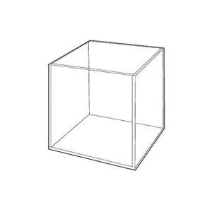"""3/16"""" Acrylic Open Cubes, 6"""" x 6"""" x 6"""""""