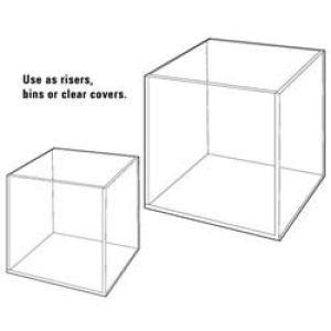 """3/16"""" Acrylic Open Cubes, 10"""" x 10"""" x 10"""""""