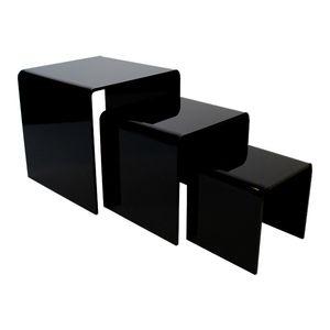 "Black Acrylic Riser Set of 3, 3"", 4"", 5"""