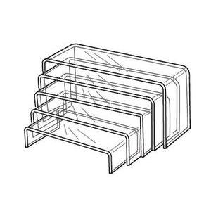"Acrylic Riser Set, 9"" - 13"",  2"" - 6"",  4-1/2"""