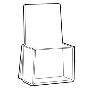 "1-Pocket Acrylic Brochure Holders for Countertop, 4"" x 9"""