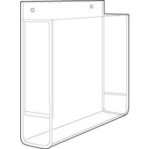 "Acrylic Single Pocket Wallmount Brochure Holders, 7-1/2"" x 9"""