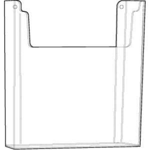 "Acrylic Wallmount Literature Holder, 8-1/2"" x 11"""