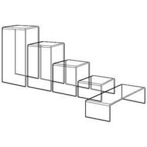"1/4"" Acrylic Risers, Set of 5"
