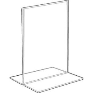 Acrylic Two Sided, Bottom Loading Sign Holders - 701159