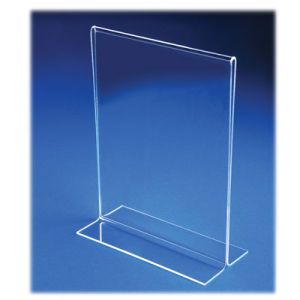 Acrylic Two Sided, Bottom Loading Sign Holders - 701167