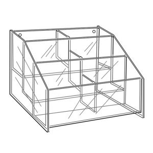 """Acrylic 3-Tier Bin, with 7-1/2"""" compartment"""