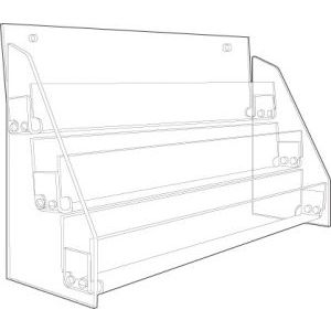 3-tier, Acrylic Countertop Rack