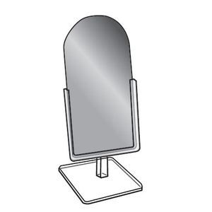 """Countertop Glass Mirror with Acrylic Frame, 6"""" x 12"""""""