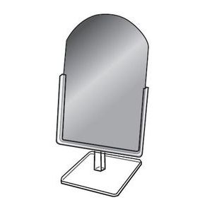 """Countertop Glass Mirror with Acrylic Frame, 9"""" x 12"""""""