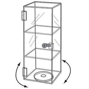 Acrylic Mini Tower Rotating & Locking Showcase