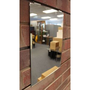 "Glass Mirror with Acrylic Frame, for Slatwall & Gridwall, 9"" x 12"""