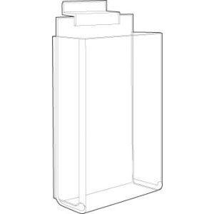 "Acrylic 1-Pocket Delux Brochure Holders, 4"" x 9"""