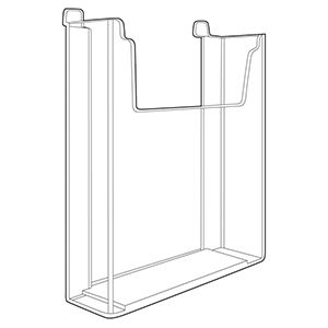 "Acrylic Slatwall Literature Holder, 8-1/2"" x 11"""