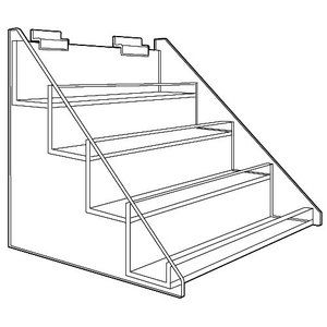 4-Tier Acrylic Economy Shelf Display for Slatwall